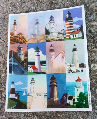 LIGHTHOUSE STICKERS 2 SHEETS