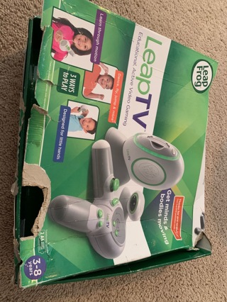 Leap frog - LeapTV- used and working video gaming- Includes Sports and Bubble Guppies+ Freebies
