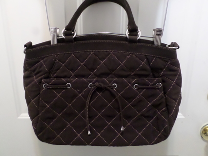 9f9bd605a1 Free  Vera Bradley brown quilted purse ~ 17