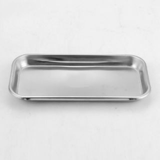 Stainless Steel Medical Surgical Tray Dental Dish Lab Instrument Tools 22X11X2cm