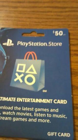 New $50 PlayStation Gift Card