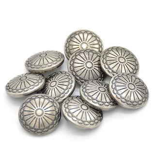 20Pcs DIY Sewing Fastener Flower Pattern Shank Buttons Metal Craft 23mm Fresh
