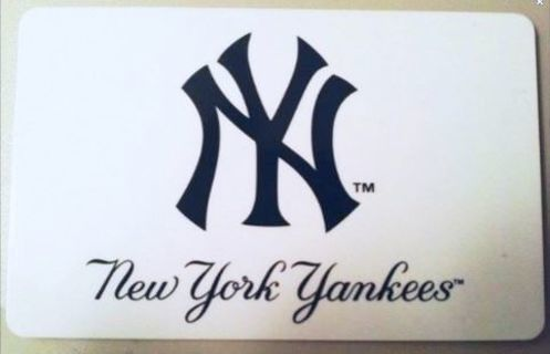 $100 NEW YORK YANKEES STADIUM GIFT SHOP GIFTCARD $100.00 PHYSICAL GIFT CARD