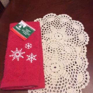 Hand Crochet Doilies/Dish Cloth + Free Gift.