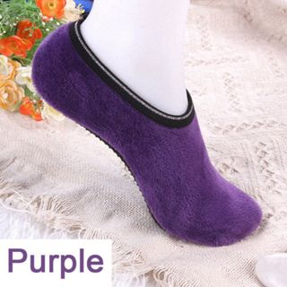 Fashion Women Winter Indoor Floor Socks Nonslip Ankle Soft Low Cut Warm Anti-skid Velvet Boat Socks