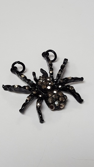 Brand New Black Spider Pendant - REALLY NICE AND UNIQUE!!