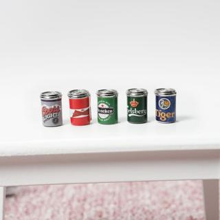 1:12 Dollhouse Miniature Mini Assorted Beer Cans Food Groceries Bar Beer