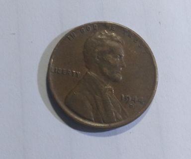 1944 D wheat cent