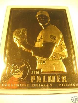 Free Danbury Mint Jim Palmer 22kt Gold Baseball Card