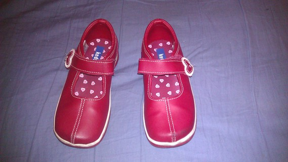 Keds Red Leather Mary Jane Shoes Girls 10