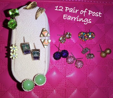 Twelve Pair of Awesome Post Earrings For the 12 Days of Christmas!!!
