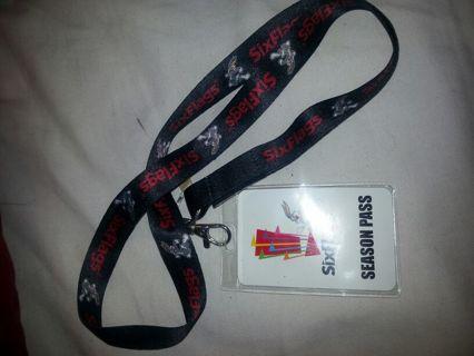 Free: Six Flags Season Pass Lanyard - Wallets & Accessories - Listia