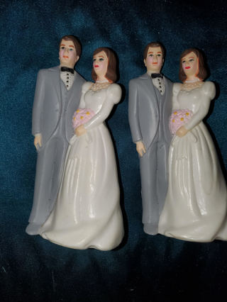 Two Wedding Cake Toppers