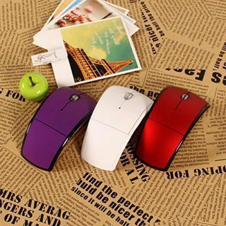 [GIN FOR FREE SHIPPING] New 2.4GHz Snap-in Fold Wireless Arc Six Color Mouse USB Transceiver