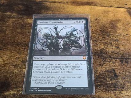 Magic the gathering mtg Profane transfusion Mythic Rare Commander Legends