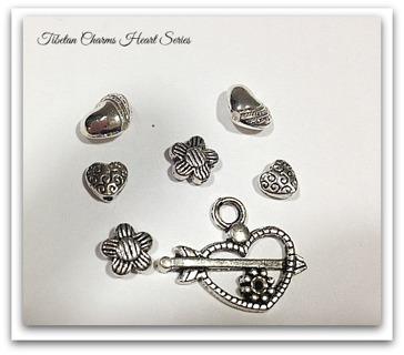 Tibetan Silver Charms heart Series