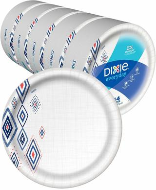 """❤Dixie Everyday Paper Plates,10 1/16"""" Plates, 220 Count,, 5 Packs of 44 Plates❤"""