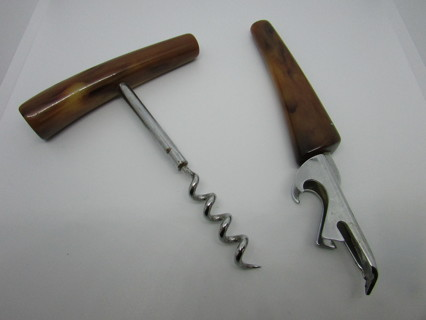 VINTAGE BAR SET- CORKSCREW & BOTTLE OPENER