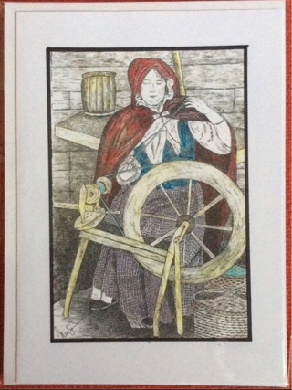 """THE SPINNER - 5 x 7"""" art card by artist Nina Struthers - GIN ONLY"""
