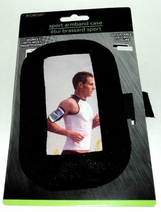 1 NEW Apple iPhone Smartphone Adjustable Sports Armband Case Hook & Latch Closure