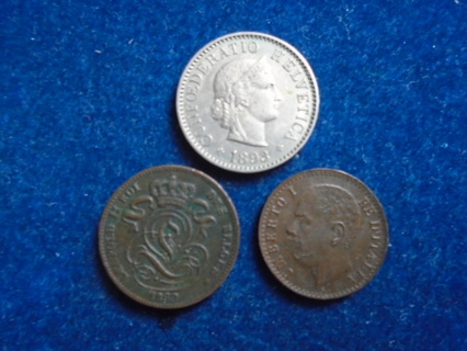 1893 1899 & 1900 OLD WORLD COINS HIGH GRADES!