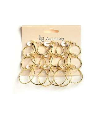 12 sets of hoop earrings