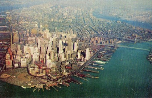 Vintage Unused Postcard: American Airlines View of New York City