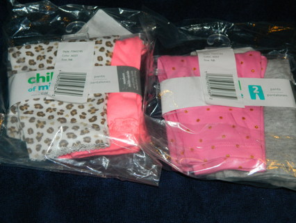 New In Packages~Carters Lot of 4 Pair Pants Size Newborn
