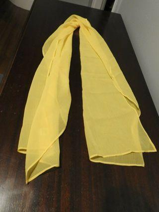 SERENITA Chiffon scarf women - Sheer lightweight Yellow