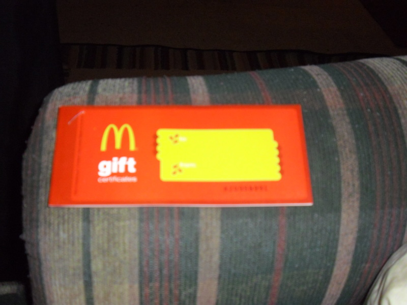 free mcdonalds gift certificates 5 in booklet gift cards listia