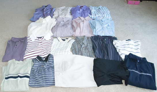 men's L HUGE 19pc lot - mostly dress shirts!