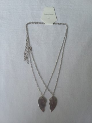 New Best Friends Silver Plated 18 in Necklaces