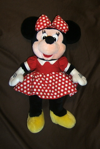 "18"" Minnie Mouse Doll Classic Plush Toy Stuffed Character Doll Red Dotted Dress"