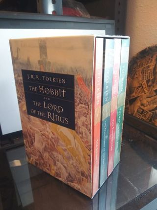 The Hobbit & Lord Of The Rings trilogy box set - 4 book set - soft cover