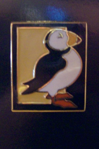Gold-Electroplated Horned Puffin Pin