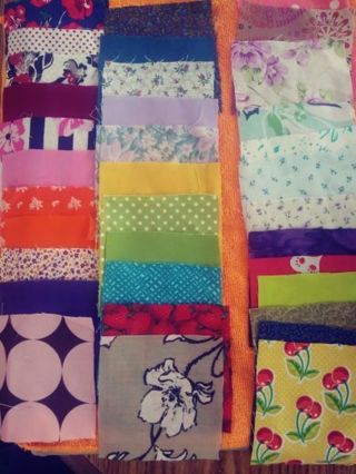 "Lot of 350 4"" Fabric Squares"