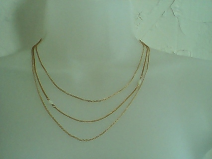 """UNUSED AVON GENUINE MOTHER OF PEARL MULTI-STRAND NECKLACE"""