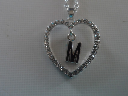 NEW NECKLACE WITH LETTER M