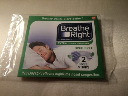 Breath Right Strips ~ Relieves Nighttime Nasal Congestion