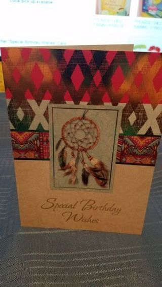 DREAM CATCHER SOUTH WESTERN SPECIAL BIRTHDAY WISHES CARD W/ MATCHING ENVELOPE
