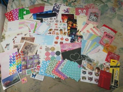 Huge desk cleanup (kawaii, origami paper, stickers, scrapbooking etc)