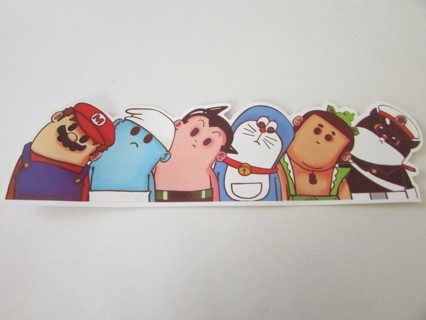 "NEW!!! 8"" WRY NECK COMIC CHARACTERS -Bumper Sticker"