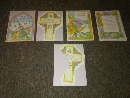 Lot of 14 Easter Cards with Envelopes - 4 Different Designs