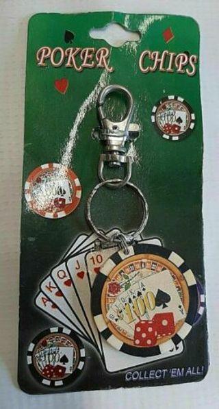 ✿ Casino Game Poker Souvenir Keychain -NEW