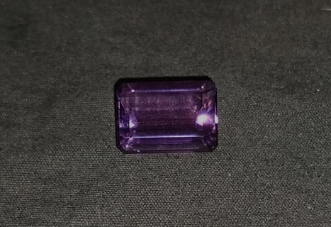 GEMSTONE AMETHYST TOP QUALITY AND BIG EMERALD CUT JUST FANTASTIC!