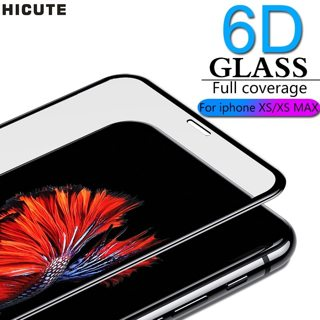 6D Full coverage protective glass for iPhone X Xr XS max glass iphone XS max Xr screen protector