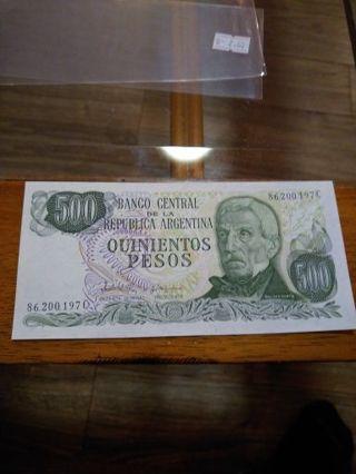 Argentina 500 Pesos Crisp uncirculated
