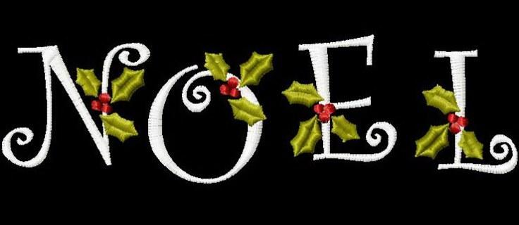 Free 4x4 Christmas Curlz Noel Script Alphabet Holiday Holly Font