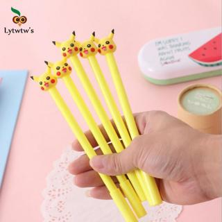 1 Piece Lytwtw's Korea Stationery Cute Cartoon Kawaii Pikachu Cat Gel Pen School Supply Office Han