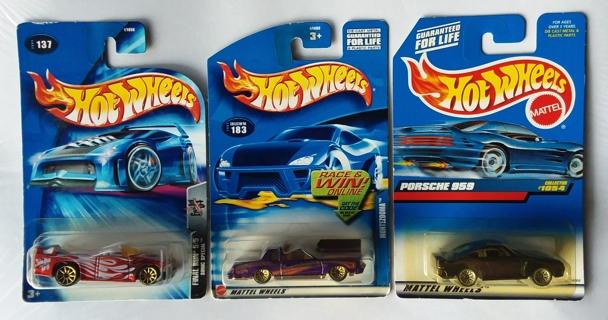Lot of 3 Hot Wheels Final Run Sonic Special - Porsche 959 - Montezooma
